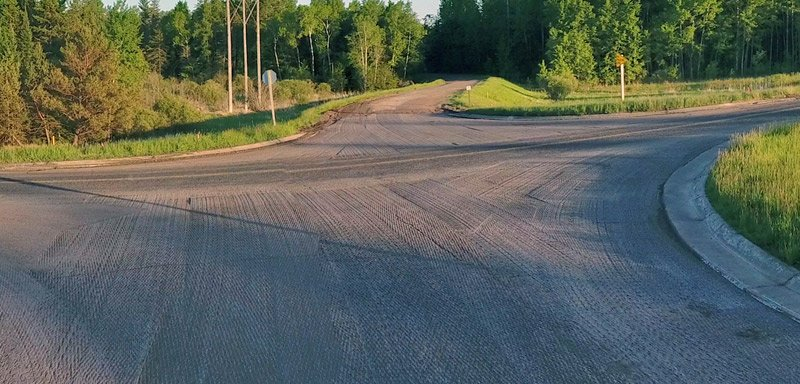 top surface grinding of Hwy 13